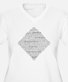 Recovery Slogans & Sayings Plus Size T-Shirt