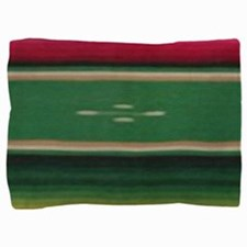 Vintage Green Mexican Serape Pillow Sham