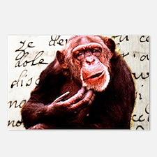 Cute ape funny chimpanze Postcards (Package of 8)