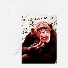 Cute ape funny chimpanzee Greeting Cards