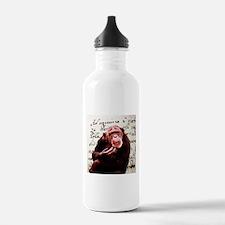 Cute ape funny chimpa Water Bottle