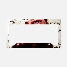 Cute ape funny chimpanzee License Plate Holder