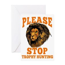 STOP TROPHY HUNTING Greeting Card