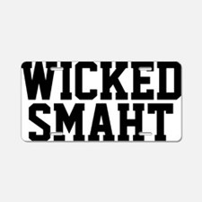 Wicked smaht funny Boston a Aluminum License Plate