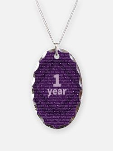 Slogans - 1 Year Purple Necklace