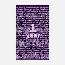 Slogans - 1 Year - Purple Decal