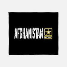 U.S. Army: Afghanistan (Black) Throw Blanket
