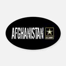 U.S. Army: Afghanistan (Black) Oval Car Magnet