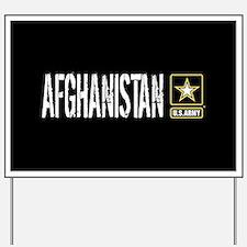 U.S. Army: Afghanistan (Black) Yard Sign