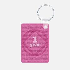 Slogans - 1 Year - Pink Keychains