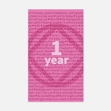 Slogans - 1 Year - Pink Decal