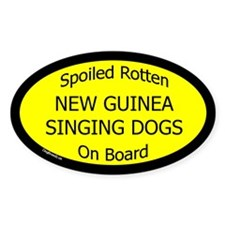 Spoiled New Guinea Singing Dogs Oval Decal