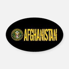 U.S. Army: Afghanistan Oval Car Magnet