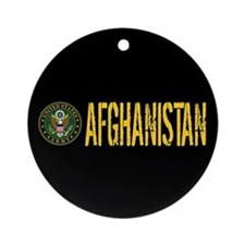 U.S. Army Afghanistan Round Ornament