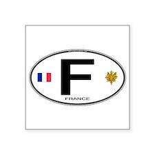 """Cute Paris Square Sticker 3"""" x 3"""""""