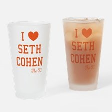 I Love Seth Cohen The OC Drinking Glass