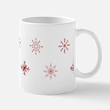 Christmas Snowflakes: Red Background Mug