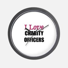 I Love CHARITY OFFICERS Wall Clock