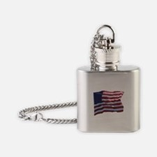 United States of America Flag Flask Necklace