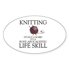 Knitting not a hobby it's a life  Decal