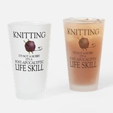 Knitting not a hobby it's a life  Drinking Glass