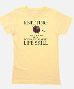 Knitting not a hobby it's a life Girl's Tee