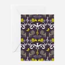 French Horn and Birdie Greeting Cards