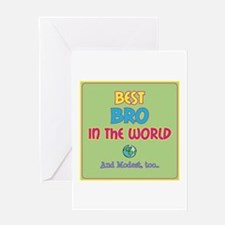 Best Bro and Modest Greeting Cards