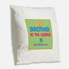 Best Brother and Modest Burlap Throw Pillow