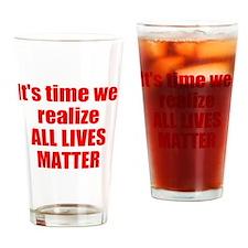 All Lives Matter Drinking Glass