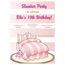 Slumber Party Birthday Party Invitations