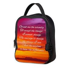 Serenity Prayer - Sunset Neoprene Lunch Bag