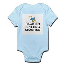 PACIFIER SPITTING CHAMP - BABY Body Suit