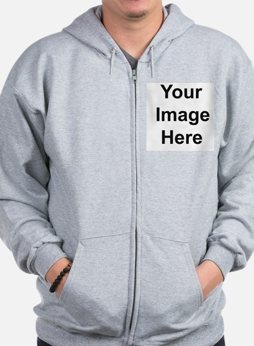 Mens Apparel Front Picture Zip Hoodie