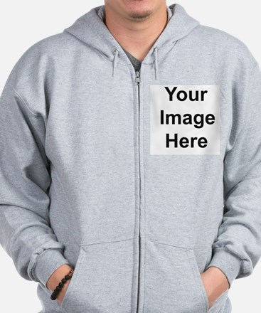 Mens Apparel Front Picture Zipped Hoody