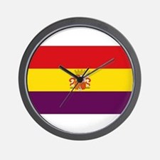Flag of the Second Spanish Republic Wall Clock