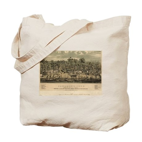 Sacramento, CA 1850. Tote Bag
