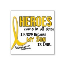 "Funny Cancer support Square Sticker 3"" x 3"""