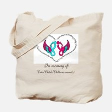Custom Pregnancy Infant Loss Tote Bag