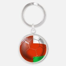 Oman Soccer Ball Round Keychain