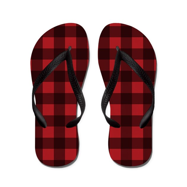 buffalo plaid flip flops by admin cp16710360. Black Bedroom Furniture Sets. Home Design Ideas