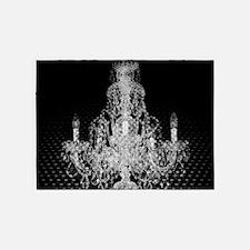 rustic steampunk vintage chandelier 5'x7'Area Rug