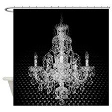 rustic steampunk vintage chandelier Shower Curtain