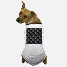 White Swirls on Black Dog T-Shirt