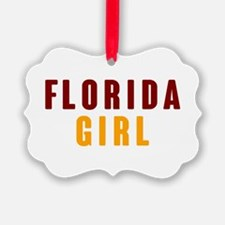 FSU Girl Ornament