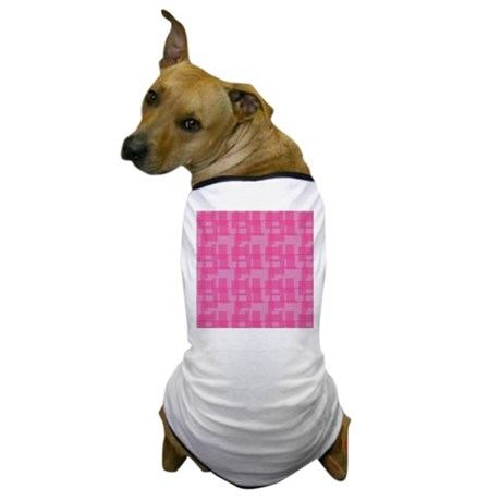 Abstract Pink Squares Dog T-Shirt