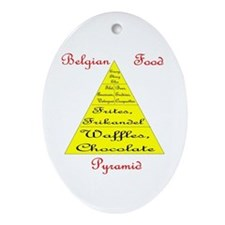 Belgian Food Pyramid Oval Ornament