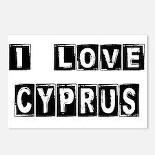 I Block Love Cyprus Postcards (Package of 8)
