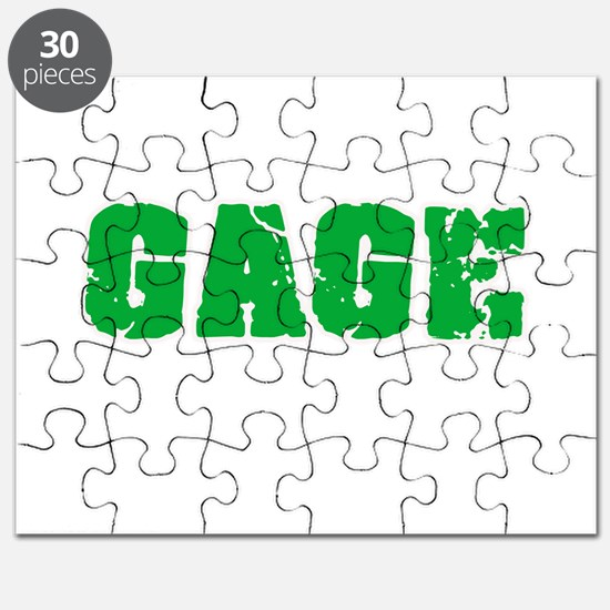 Gage Name Weathered Green Design Puzzle