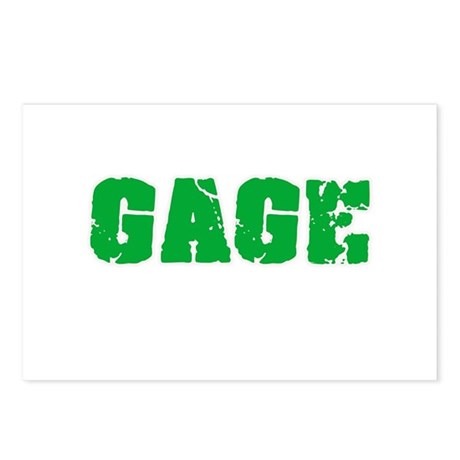 gage name. gage name weathered green postcards (package of 8) d